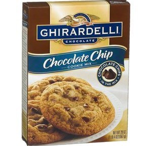 ghiradelli chocolate chip cookie mix joke about dying man trying to eat cookies that are for the funeral