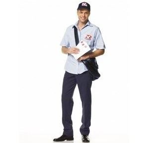 mailman costume joke about knowing the whole truth